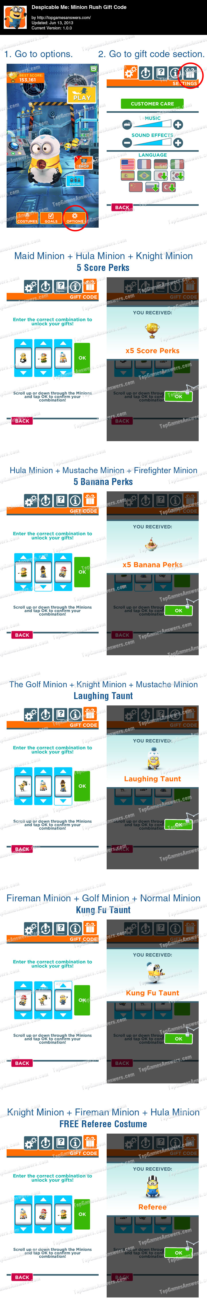 Top Games Minion Rush Gift Code