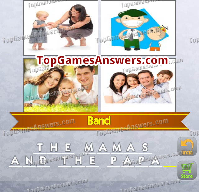 4 Pics 1 Mix Answers Bands Level 5