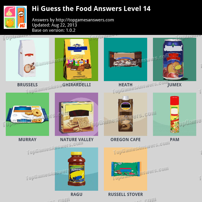 Guess The Food Answers Level 2 | www.imgkid.com - The ...
