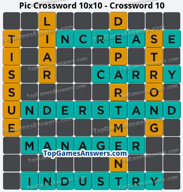 Pic Cross Answers 10x10 Crossword 10