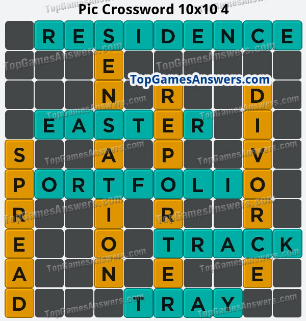 Pic Cross Answers 10x10 Crossword 4