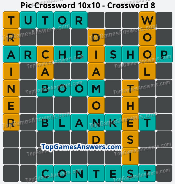 Pic Cross Answers 10x10 Crossword 8
