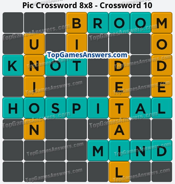 Pic Cross Answers 8x8 Crossword 10
