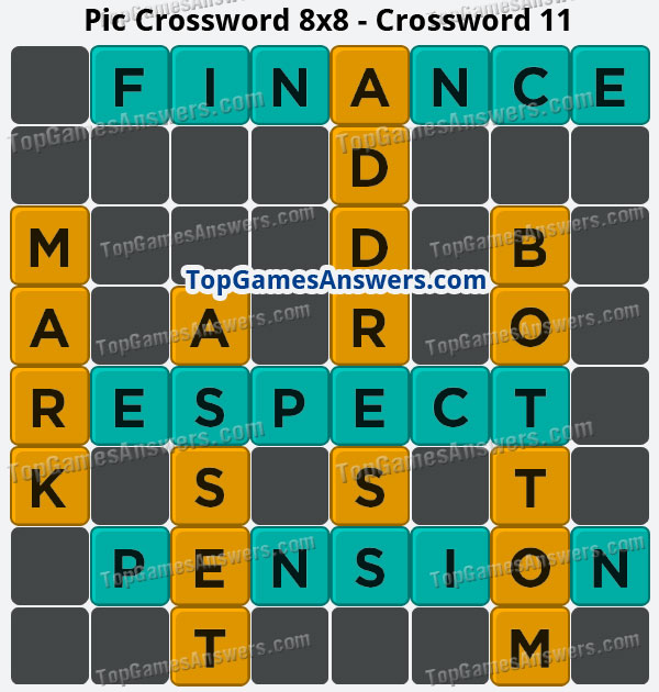 Pic Cross Answers 8x8 Crossword 11