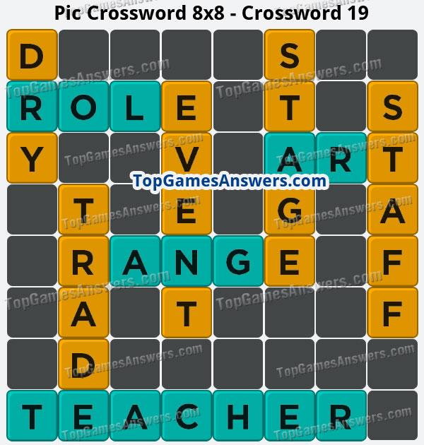 Pic Cross Answers 8x8 Crossword 19