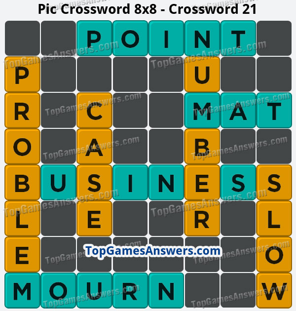 Pic Cross Answers 8x8 Crossword 21