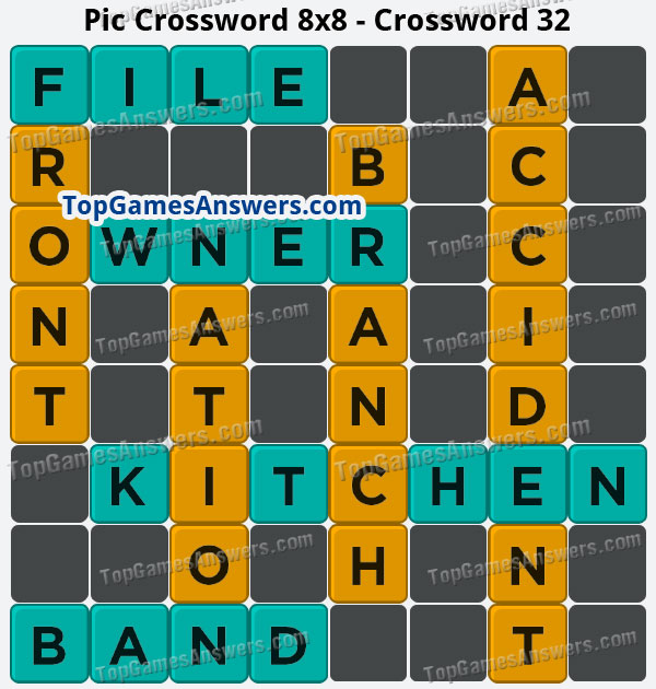 Pic Cross Answers 8x8 Crossword 32