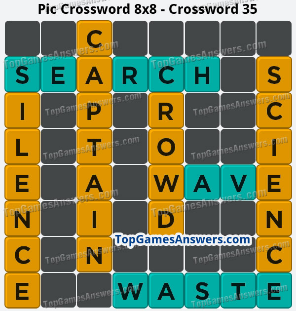 Pic Cross Answers 8x8 Crossword 35