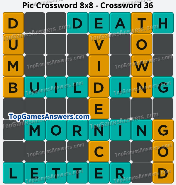 Pic Cross Answers 8x8 Crossword 36
