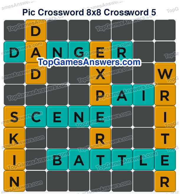 Pic Cross Answers 8x8 Crossword 5