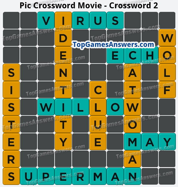 Pic Cross Answers Movie Crossword 2