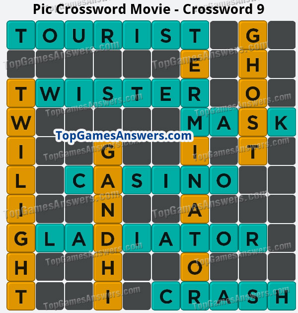 Pic Cross Answers Movie Crossword 9