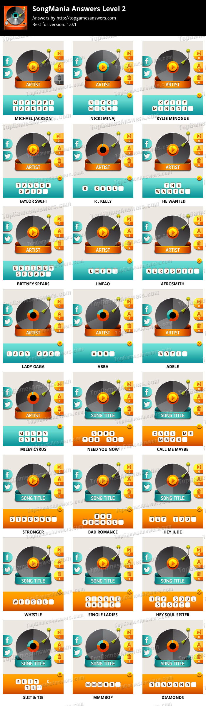 SongMania-Answers-Level-2-for-iphone