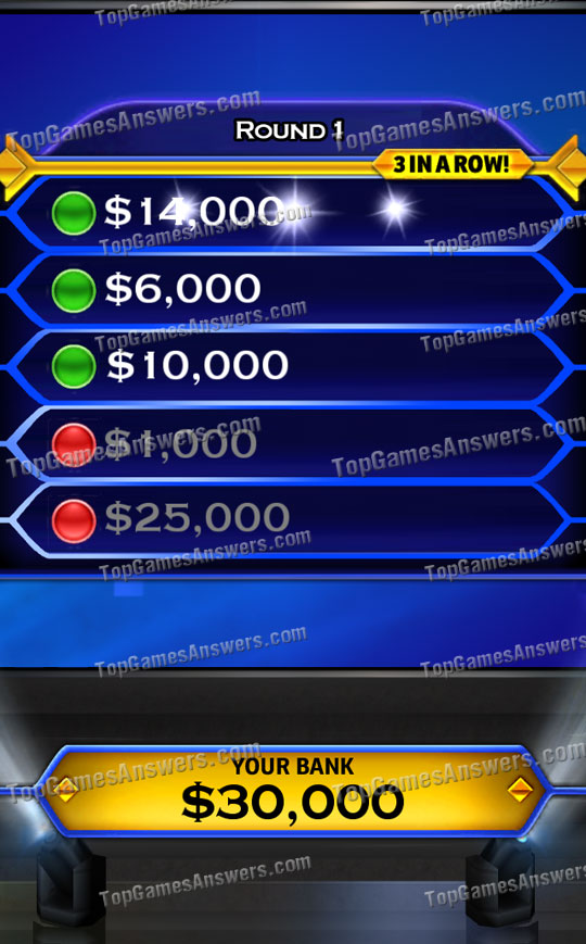 Who Wants To Be A Millionaire & Friends 3 in a row
