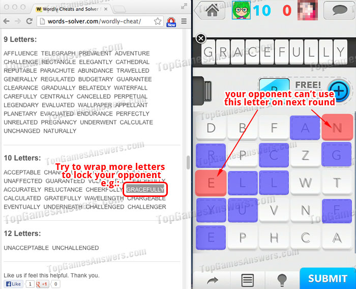 Wordly word game Cheats 3
