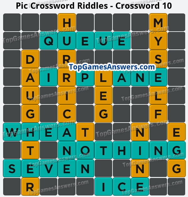 Pic Cross Answers Riddles Crossword 10