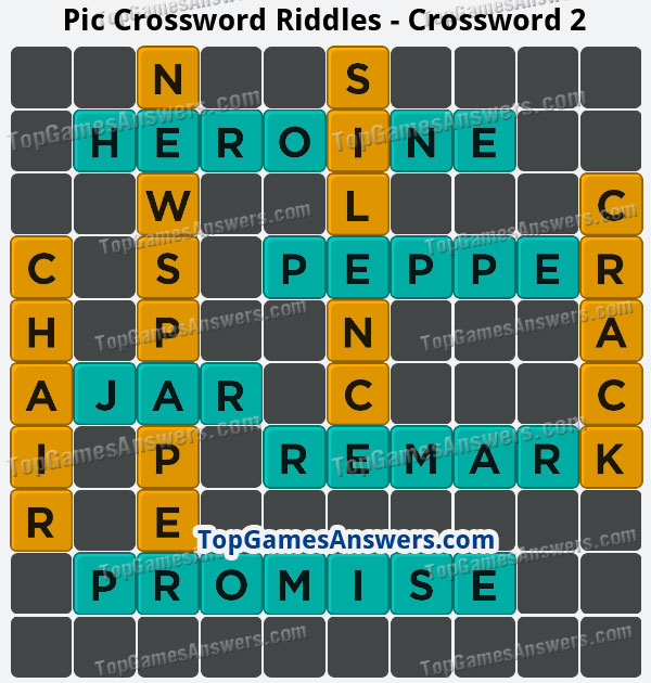 Pic Cross Answers Riddles Crossword 2