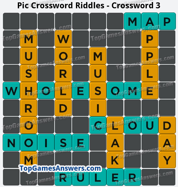 Pic Cross Answers Riddles Crossword 3