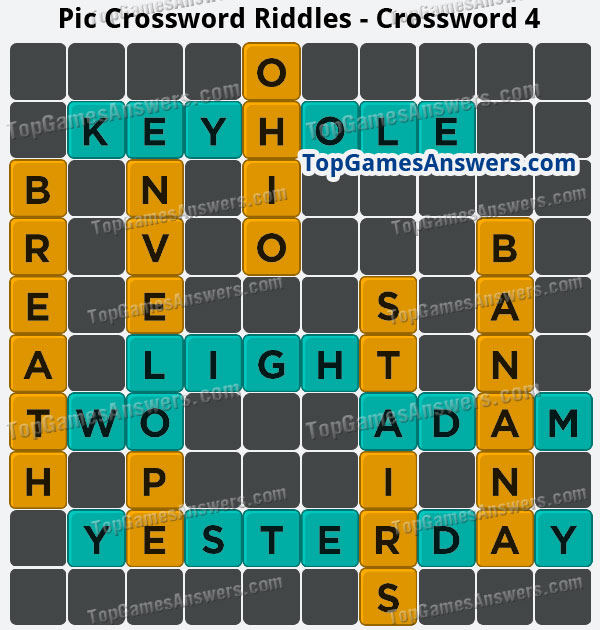 Pic Cross Answers Riddles Crossword 4