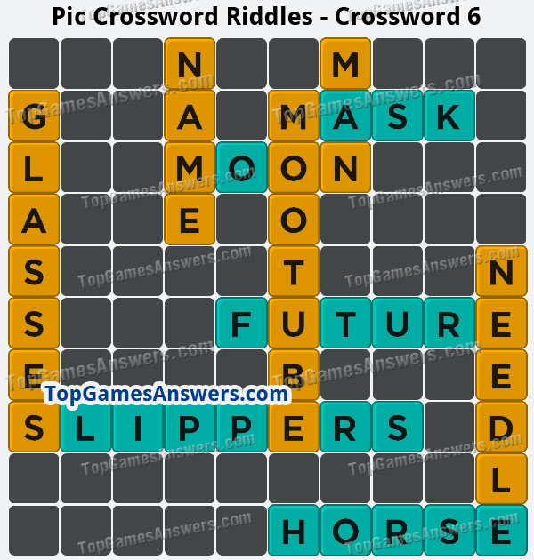 Pic Cross Answers Riddles Crossword 6