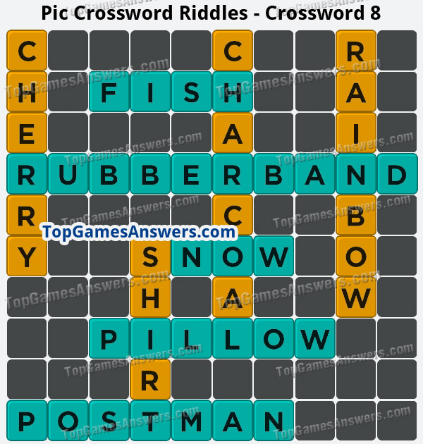 Pic Cross Answers Riddles Crossword 8