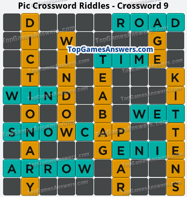 Pic Cross Answers Riddles Crossword 9